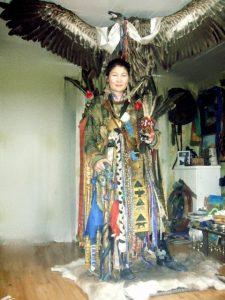 Mongolische Schamanin