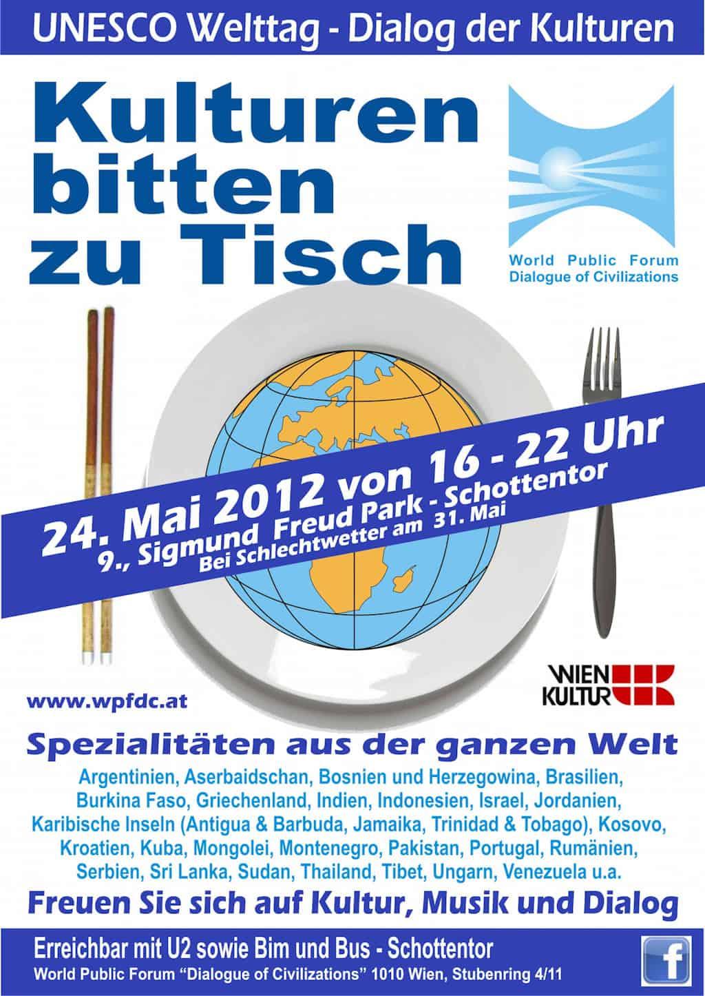 "UNESCO Welttag - ""Dialog der Kulturen"" - Kulturen bitten zu Tisch"
