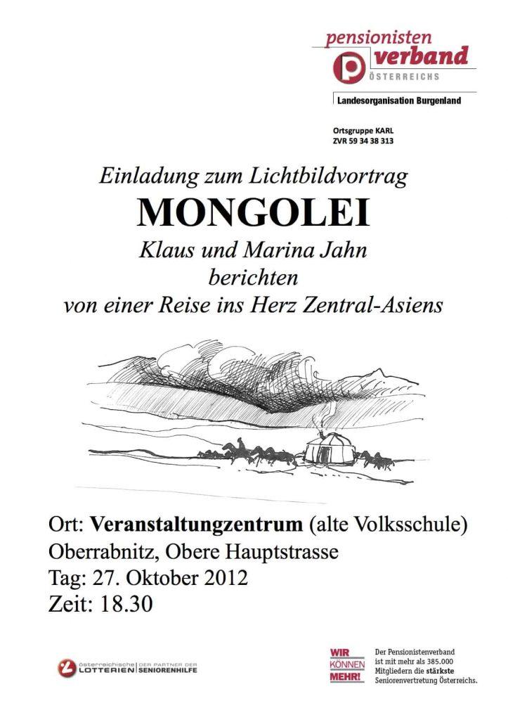 Lichtbildvortrag Mongolei